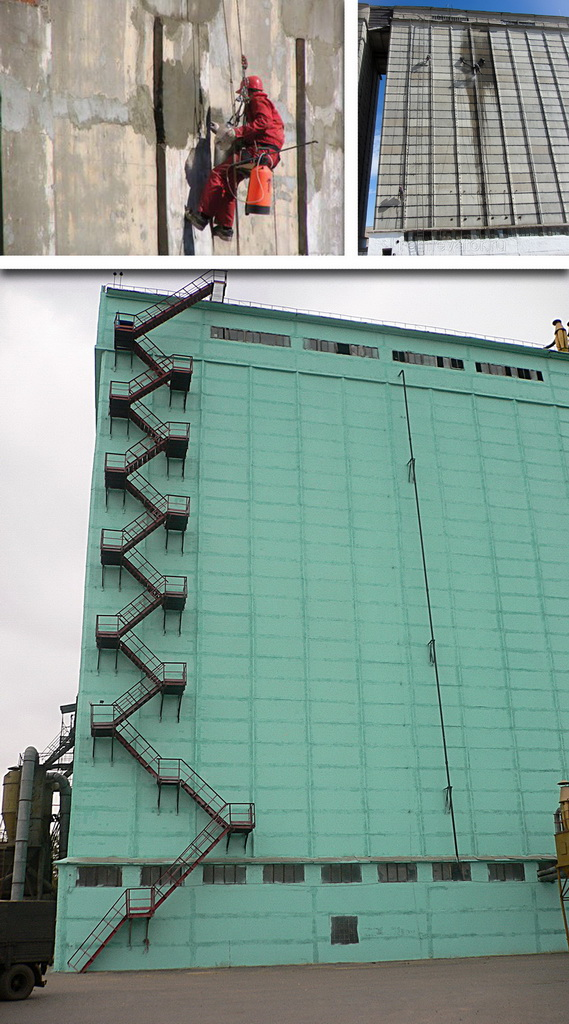 complex repair of elevators  cleaning and repair of silos