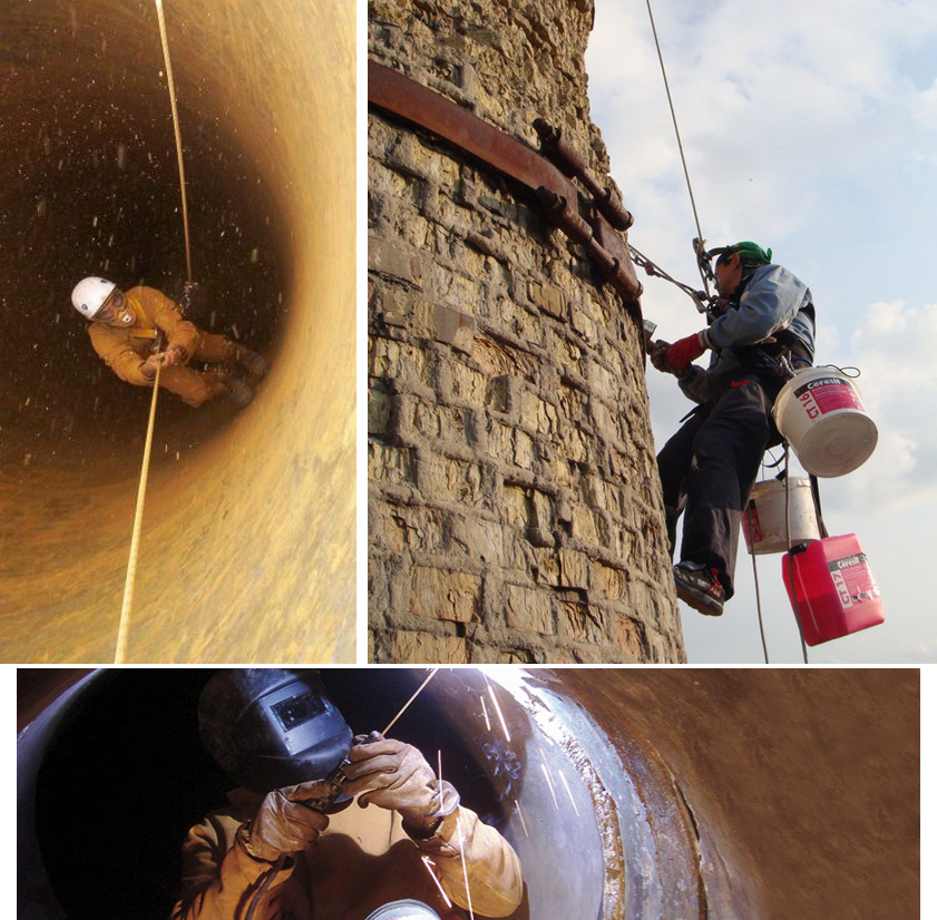 Repair, modernization of chimneys
