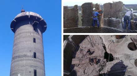 Dismantling of the water tower, Kryvyi Rig