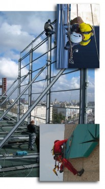 Installation of of advertising constructions